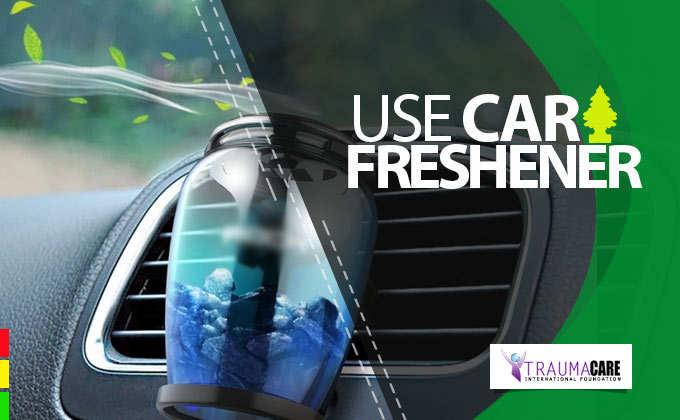 USE A CAR FRESHENER OR FRAGRANCE